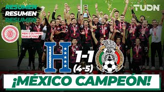 Resumen y goles   Honduras 1(4)-(5)1 México   Final - Preolímpico 2021   TUDN