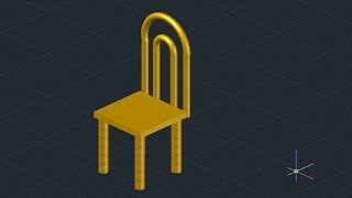 3d Chair Design - Autocad (basic)