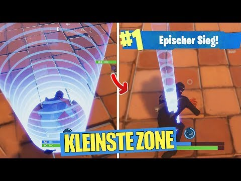 GEGNER STIRBT in KLEINSTER ZONE DER WELT! (Fortnite Battle Royale Deutsch)