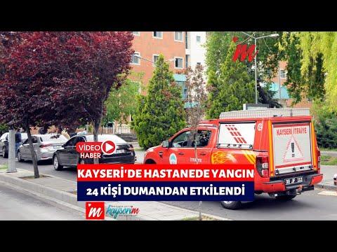 Kayseri'de hastanede yangın; 24 kişi dumandan etkilendi
