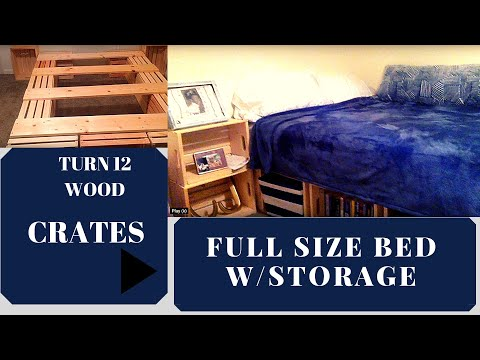 Diy | Diy BED  |made from WOODEN STORAGE CRATES