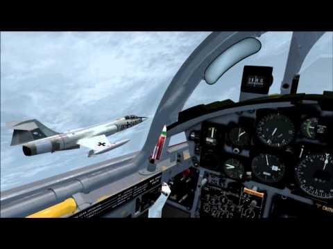 Sim Skunk Works F-104G from Bentwaters to Landivisiau