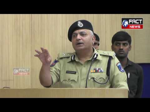 COMMISSIONER OF POLICE CYBERABAD MR. SANDEEP SHANDILYA ANNUAL PRESS CONFERENCE ON 21-12-2016