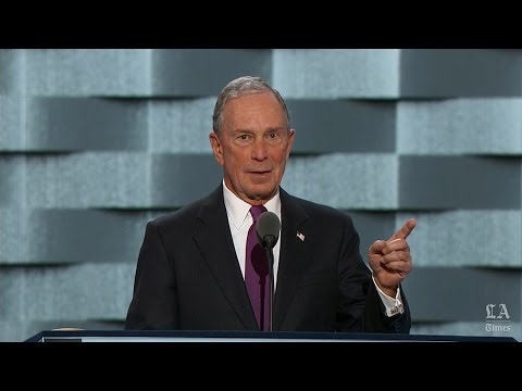 Former mayor of New York Michael R. Bloomberg speaks at the Democratic National Convention