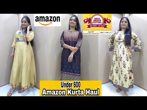 amazon-great-indian-festival- -amazon-kurta-set-haul-under-600- -college-office-wear-under-600