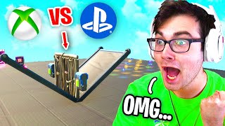 I Hosted a PS4 vs XBOX 1v1 Tournament in Fortnite (who is better??)