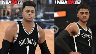 NBA 2K18 D'ANGELO RUSSELL 1st LOOK RATING and SCREENSHOT COMPARISON! HUGE UPGRADE!