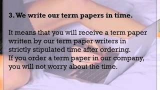 Term Paper Outline(This video had a purpose to show advantages of writing your Term Paper yourself or to order it at the professional writers. You can also find information in this ..., 2015-12-23T13:17:38.000Z)