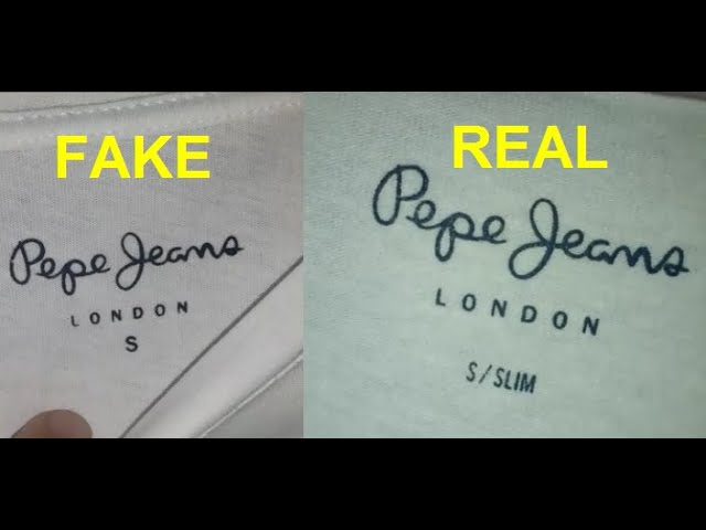 Real Vs Fake Pepe Jeans T Shirt How To Spot Fake Pepe Jeans London Youtube
