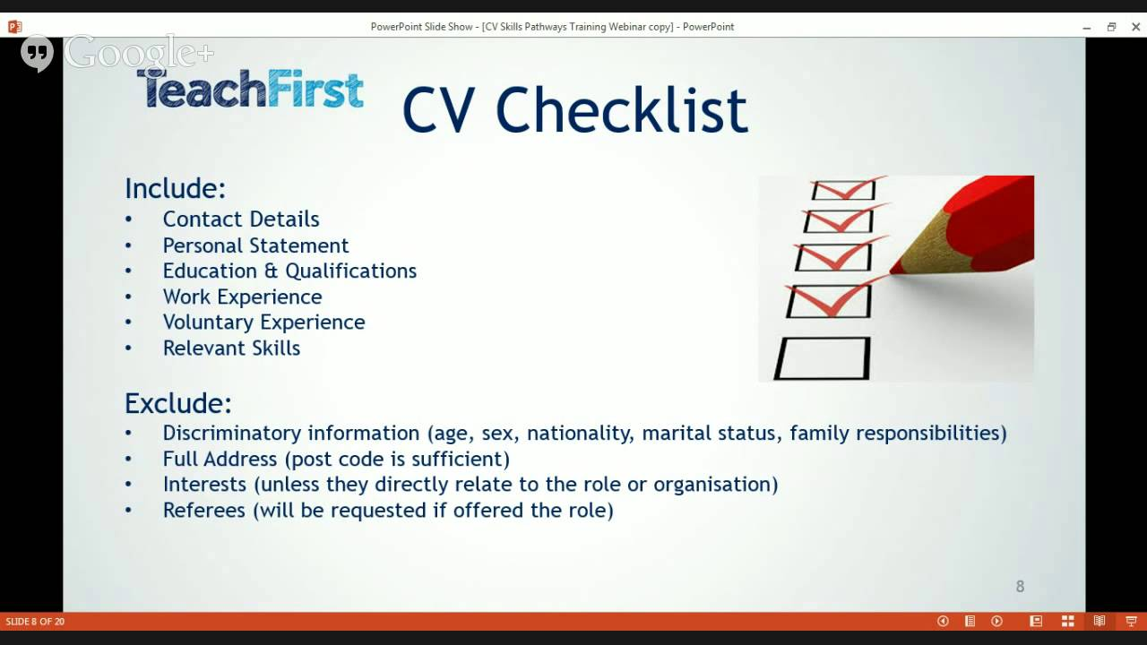 Teach First Cv Workshop Youtube