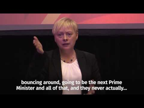 Watch Angela Eagle react to Boris Johnson becoming Foreign Secretary