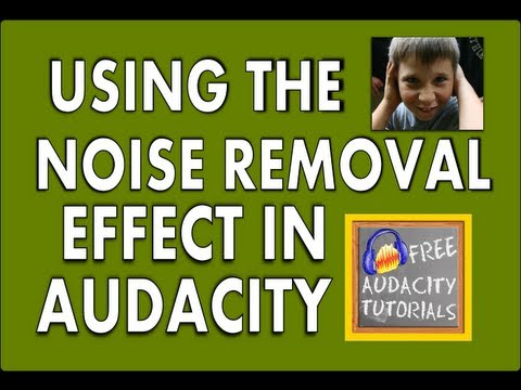 Using the Noise Removal in Audacity (effect) « Free Audacity