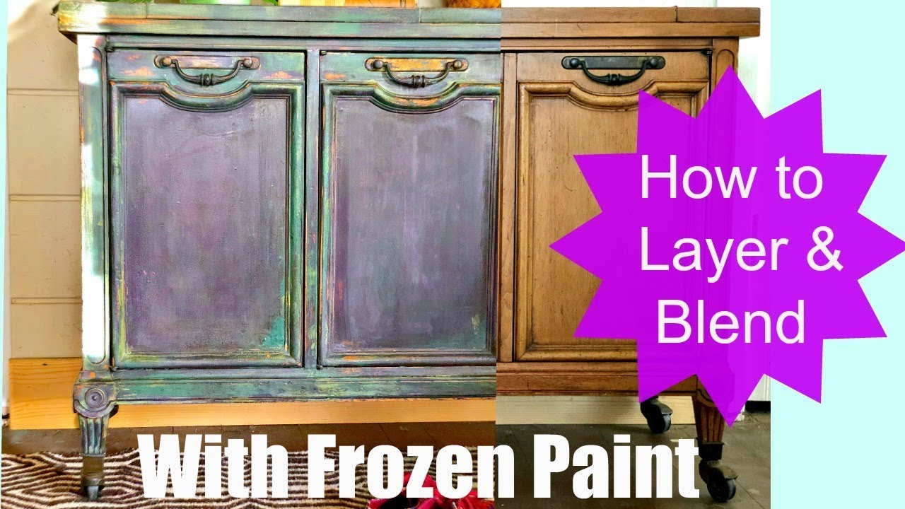 how to paint furniture blend and layer colors like an artist youtube. Black Bedroom Furniture Sets. Home Design Ideas