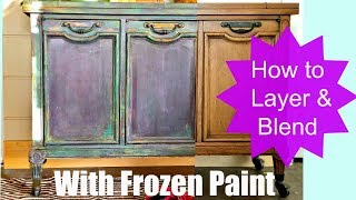 How to Paint Furniture, Blend and Layer colors like an Artist