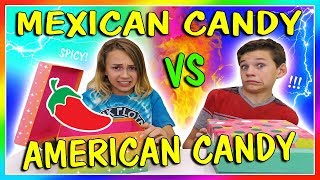 MEXICAN VS AMERICAN CANDY SWITCH UP CHALLENGE😆| We Are The Davises