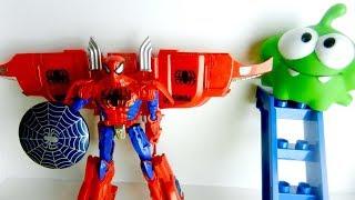Человек Паук - Трансформер и Ам Ням. Игрушки для детей. Видео