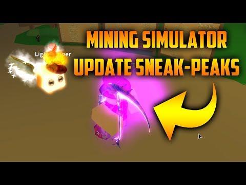 NEW MINING SIMULATOR UPDATE LEAKS! (ROBLOX Mining Simulator Sneak-Peaks)