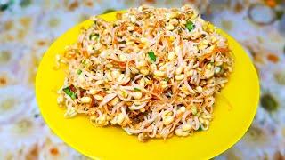 Салат из пророщенного маша. Нокты ча - полезный корейский салат из пророщенного маша (гороха маш).