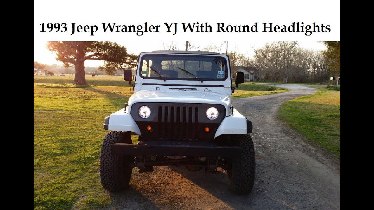 Jeep Wrangler Yj Square To Round Circle Headlight Conversion No