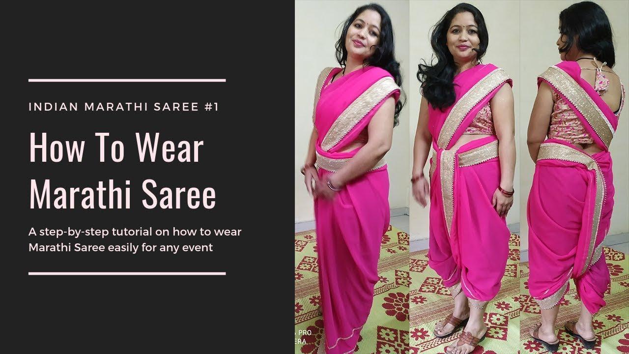 How to brahmin wear nauvari saree catalog photo