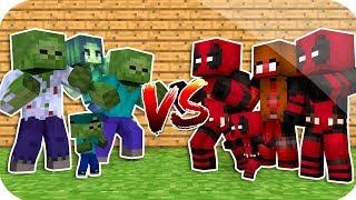 Zombİ'nİn Aİlesİ Vs Deadpool'un Aİlesİ !   Minecraft
