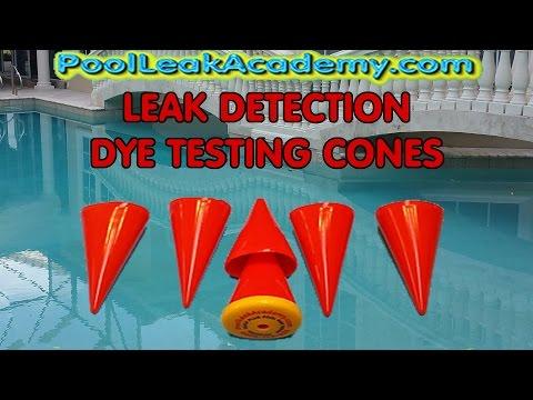 Swimming Pool Leak Detection - quick plug dye testing cones