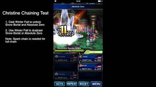 [FFBE GL] Christine and Trance Terra chaining