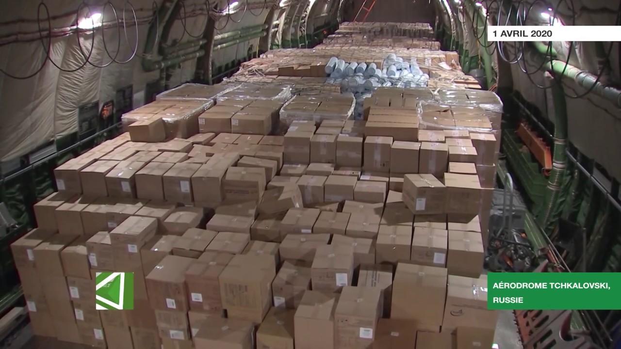Covid-19 : la Russie apporte une aide humanitaire aux États-Unis