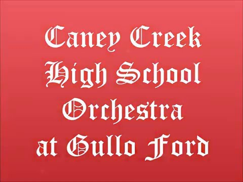 Caney Creek High School Orchestra at Gullo Ford 2015