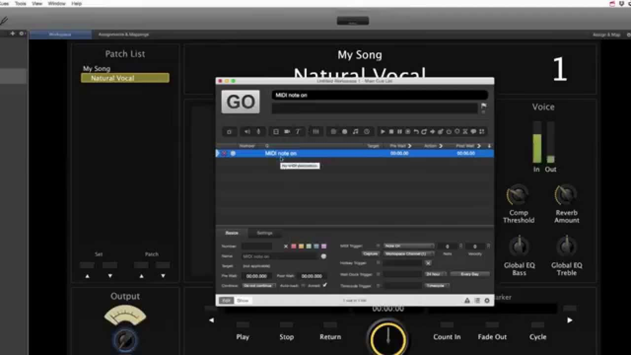 the sound design blog episode 3 midi control mainstage 3 with qlab 3 youtube. Black Bedroom Furniture Sets. Home Design Ideas