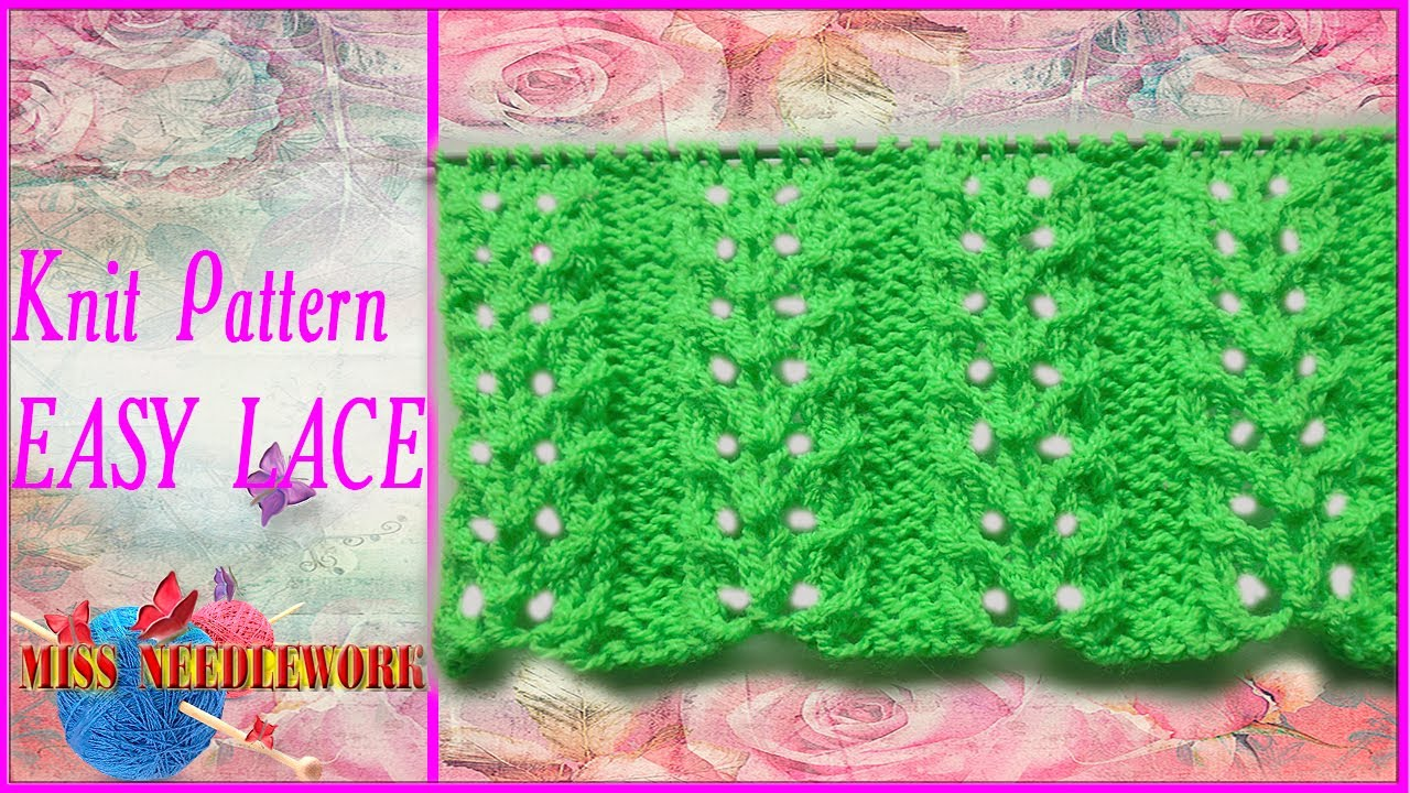 Knit pattern easy lace youtube knit pattern easy lace bankloansurffo Image collections