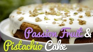 Passion Fruit & Pistachio Cake