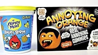 Angry Birds Cookies And Annoying Orange Gummies!