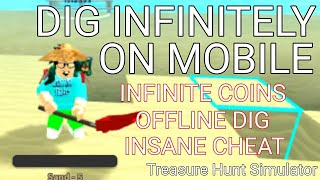 HOW TO GET UNLIMITED SAND IN ROBLOX TREASURE HUNT SIMULATOR ON MOBILE!! AUTO DIG!! *INSANE CHEAT!! *