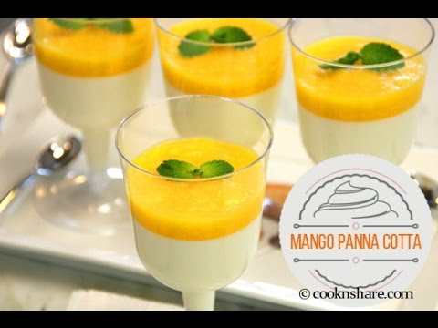 Mango Panna Cotta Simple and Easy