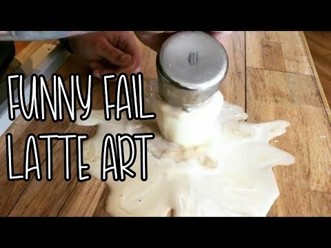 FAIL LATTE ART GET ANGRY !!!