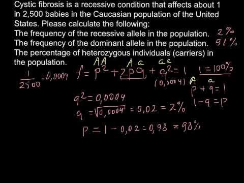 Population genetics, Cystic Fibrosis - problem solving