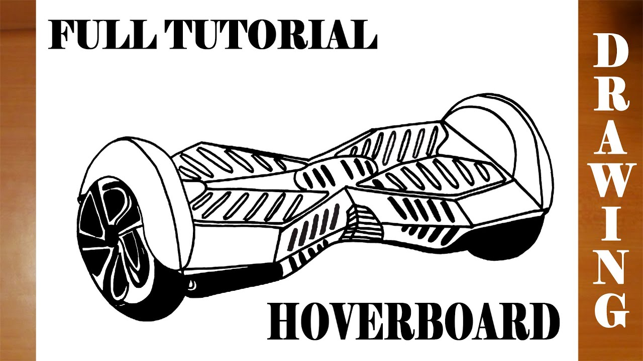 How to Draw a HOVERBOARD Step by Step On paper Easy