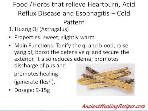 Cure GERD and Heartburn naturally - step by step solution with chinese medicine dietary therapy