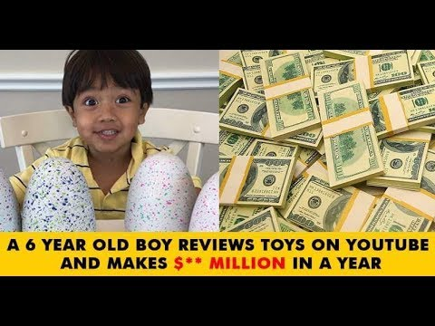 A 6 year old child Earn millions Dollars from youtube thumbnail