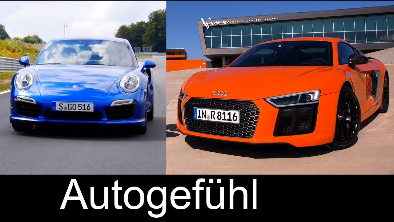 Best Supersports Car Comparison Test Review New Audi R Vs Porsche - Sports car comparison