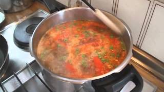 Суп с рыбными фрикадельками.