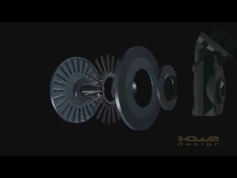 DeConti Brake assembly animation in 3D.