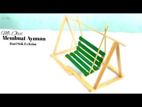 Ide Kreatif Membuat Ayunan Dari Stik Es Krim