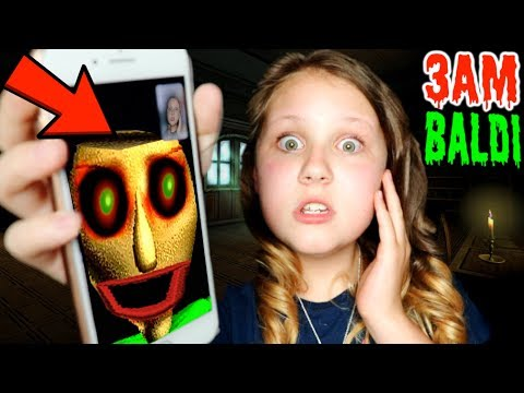 CALLING BALDI'S BASIC ON FACETIME AT 3AM!! *GRANNY'S HUSBAND??*