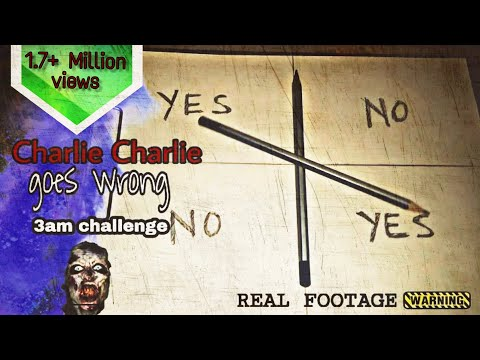 Charlie Charlie (pencil game) 3am challenge - Indian version | Real Footage || scarypedia