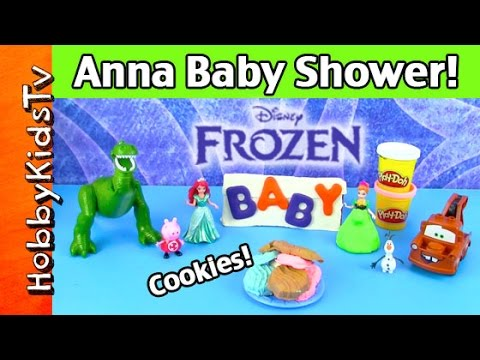 frozen anna baby shower surprise treats elsa and olaf with batman