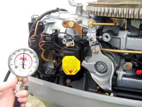 50 HP Evinrude Compression Test First Cylinder