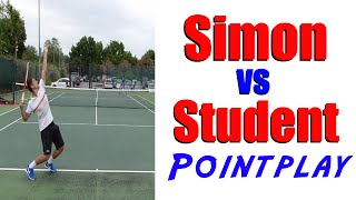 Simon Playing 16 Year Old Student | Top Tennis Training