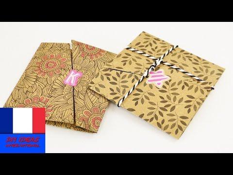 diy comment fabriquer faire ses enveloppes facilement doovi. Black Bedroom Furniture Sets. Home Design Ideas